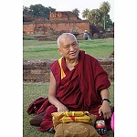 Lama Zopa Rinpoche in Sarnath Card