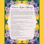 Verses to Inspire Offerings - Letter Downloadable Card (English and Tibetan)