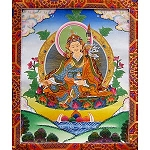 Guru Rinpoche Thangka Medium Plus- High Quality Brocade