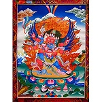 Hayagriva Thangka Medium - High Quality Brocade