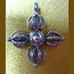 Silver Double Dorje Pendant