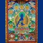 Seven Medicine Buddha Thangka Large- High Quality Brocade