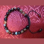 Brown Agate Wrist Mala