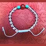 Crystal Wrist Mala with Carnelian Turquoise Beads