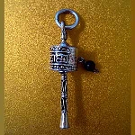 Silver Mani Hand Held Prayer Wheel Pendant