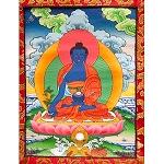 Medicine Buddha Thangka Extra Small