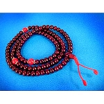 Rosewood Mala - Coral Divider Beads