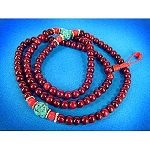 Rosewood Mala - Turquoise Coral Divider Bead
