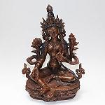 Chenrezig Four-Arm Bronze Statue 8 Inch