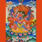 Hayagriva Thangka Medium Plus - High Quality Brocade