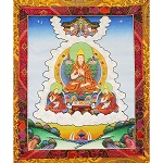 Lama Tsongkhapa Thangka Medium Plus - High Quality Brocade