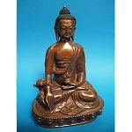 Medicine Buddha Bronze Statue 8 Inch