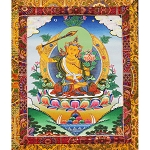Manjushri Thangka Medium Plus - High Quality Brocade