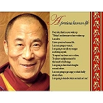 His Holiness the  Dalai Lama's Devotional Quote Card