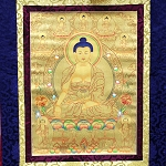 Shakyamuni Buddha Golden Thangka Large � High Quality Brocade