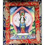 Chenrezig 1000 Arm Thangka Extra Small