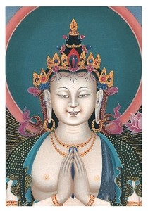 Face Of Avalokiteshvara Card