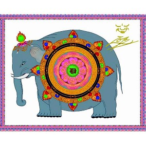 Wheel of the Meritorious Elephant Generating Power - Card