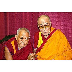 His Holiness XIV Dalai Lama with Lama Zopa Rinpoche