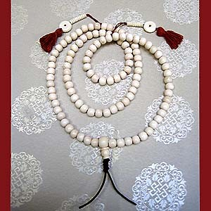 Bone Mala with Tasseled Counter