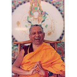 Lama Zopa Rinpoche Laughing Card 2