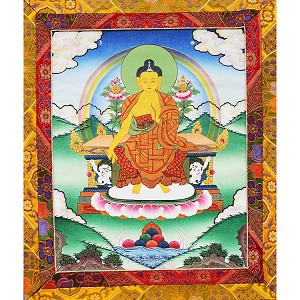 Maitreya Thangka Medium Plus - High Quality Brocade
