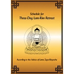 Schedule for Three Day Lamrim retreat PDF