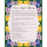 Verses to Inspire Offerings Card (English and Tibetan)