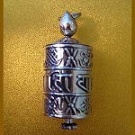 Silver Prayer Wheel Pendant