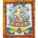 Vajrasattva Thangka Medium Plus - High Quality Brocade