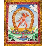 Vajrayogini Thangka Medium Plus -  High Quality Brocade