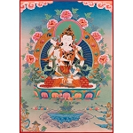 Vajrasattva with Wisdom Mother Card