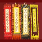 Bhutanese Woven Wall Hanging with Auspicious Symbols