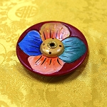 Round Lotus Flower Incense Holder