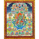 Twenty-One Tara Thangka Large - High Quality Brocade