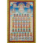 The 35 Buddhas Thangka Large - High Quality Brocade