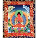 Amitabha Buddha Thangka Extra Small