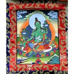 Green Tara Thangka Extra Small