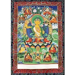 Manjushri Thangka Large - High Quality Brocade
