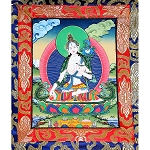 White Tara Thangka Extra Small