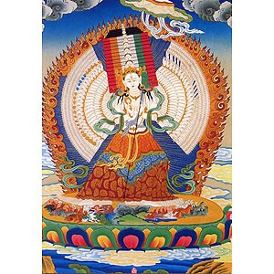 White Umbrella Deity Card (Arya Sitatapatra)