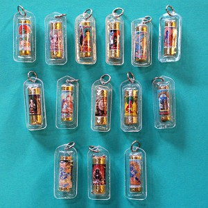 Tibetan Buddhist Deity Tube Pendant  (Seconds)