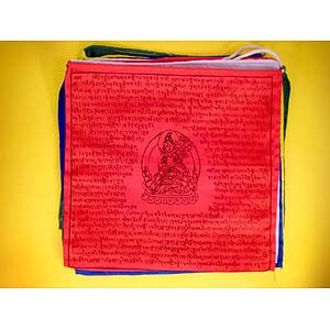 White Tara Prayer Flag